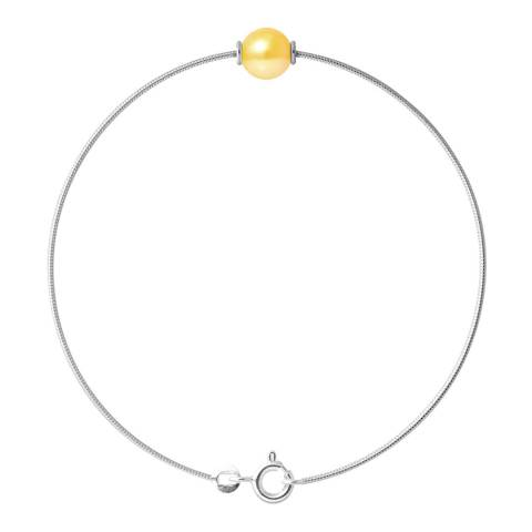Just Pearl Golden Yellow Pearl Bracelet 9-10mm