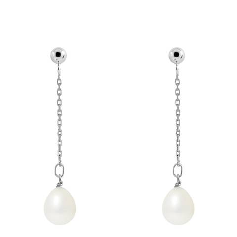 Just Pearl Natural White Pearl Earrings 7-8mm