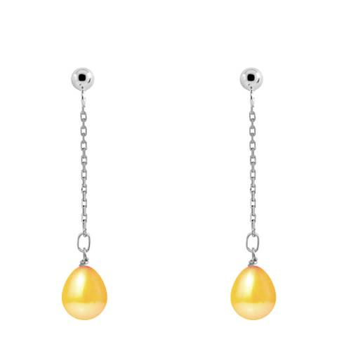 Just Pearl Golden Yellow Pearl Earrings 7-8mm
