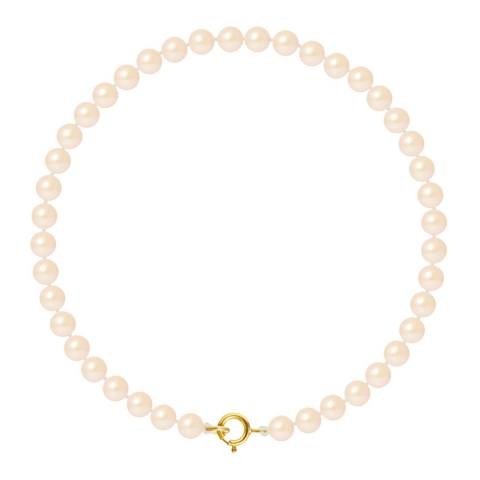 Just Pearl Natural Pink Row Of Pearls Bracelet 4-5mm