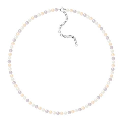 Just Pearl Multi-Coloured Row Of Pearls Necklace 4-5mm