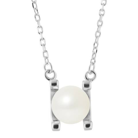 Just Pearl Natural White Round Pearl Necklace 7-8mm
