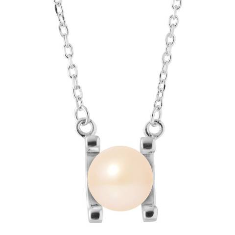 Just Pearl Natural Pink Round Pearl Necklace 7-8mm