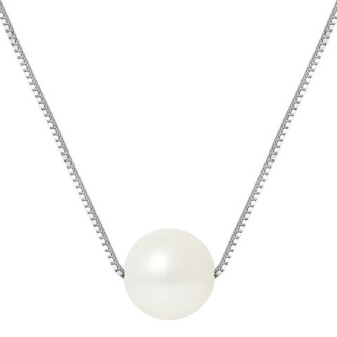 Just Pearl Natural White Pearl Necklace 9-10mm