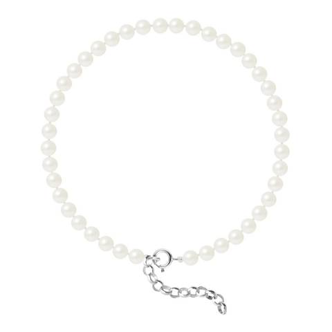 Just Pearl Natural White Round Pearl Bracelet 4-5mm