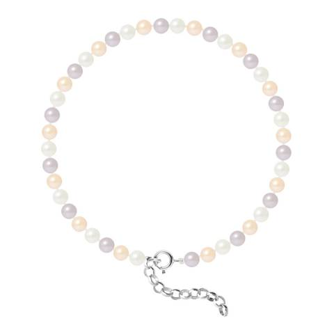 Just Pearl Multi-Coloured Round Pearl Bracelet 4-5mm