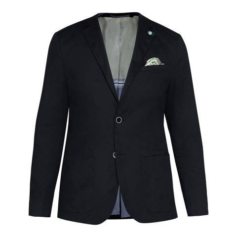Ted Baker Navy Cliford Piece Dyed Cotton Blazer