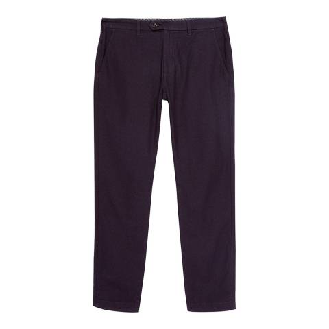 Ted Baker Purple Maxchi Slim Fit Textured Trousers