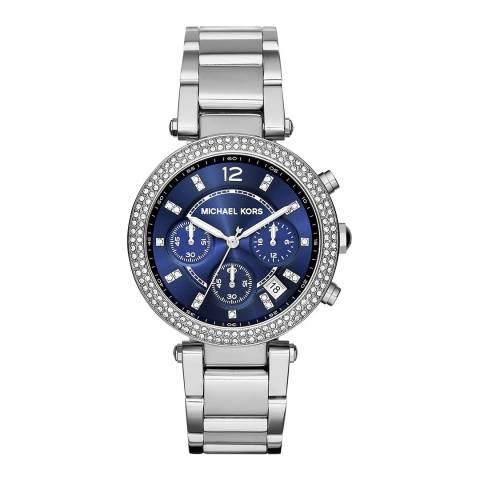 Michael Kors Women's Silver Parker Chronograph Watch 39mm