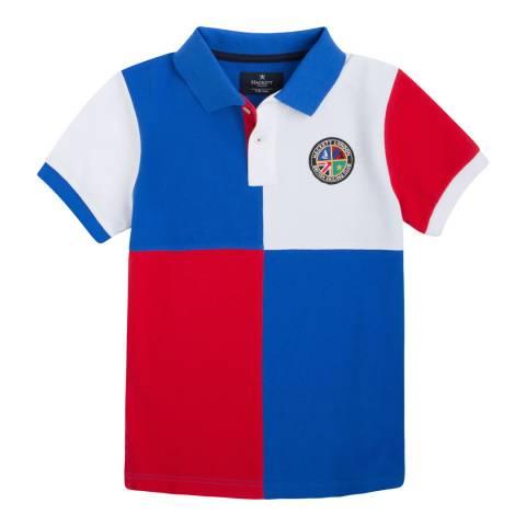 Hackett London Blue/Red Multi Quad Polo Shirt
