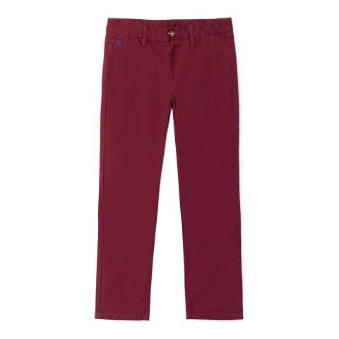 Hackett London Burgundy Slim leg cotton blend chino
