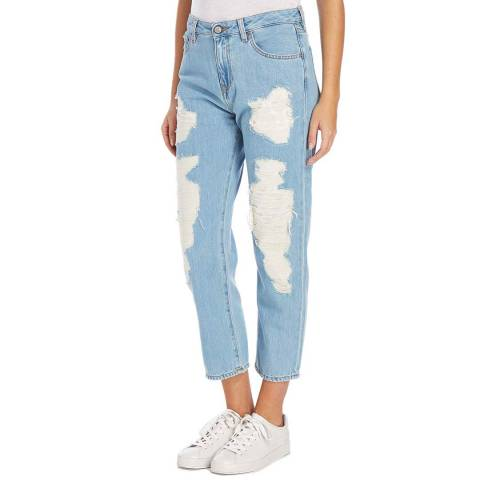Vivienne Westwood Light Blue Distressed Misfits Stretch Jeans