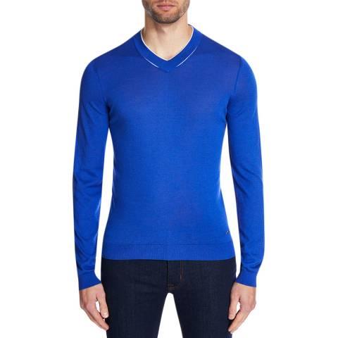 BOSS Cobalt T-Ottino Fine Knit Jumper