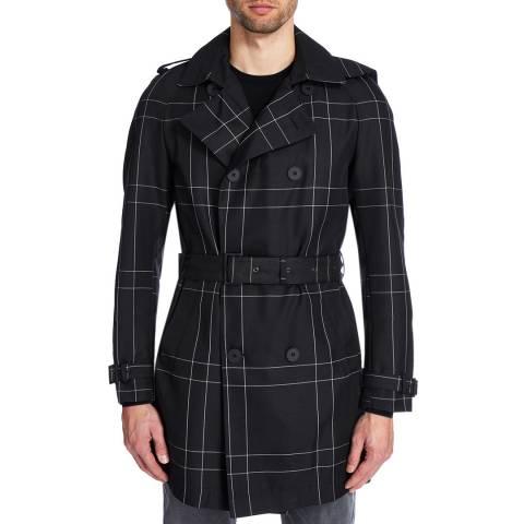 BOSS Black Dan Pinstripe Check Trench Coat