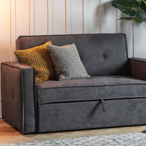 Gallery Slate Green Cambo Pom Pom Cushion 45x45cm