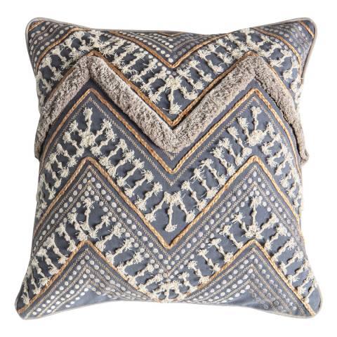Gallery Slate Grey Mancora Embroidered Cushion 45x45cm