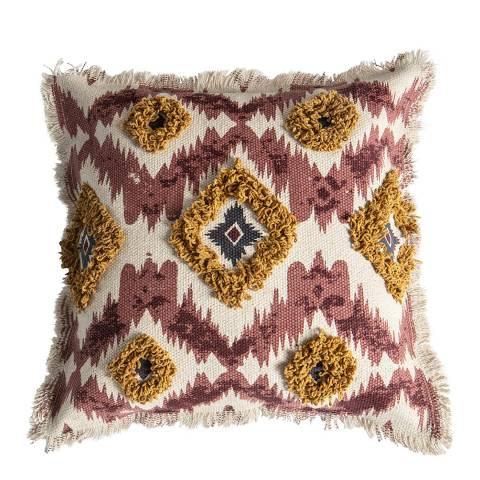 Gallery Burnt Orange/Cream Nazca Embellished Cushion 45x45cm