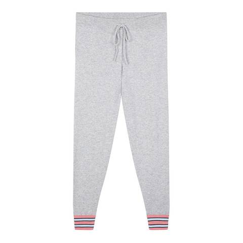 Chinti and Parker Silver Marl/Multi Cashmere Hibiscus Track Pant