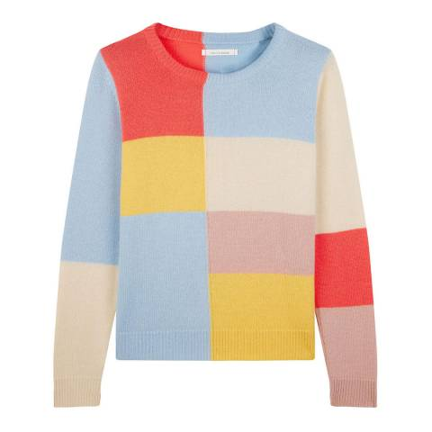Chinti and Parker Multi Cashmere Mondrian Sweater