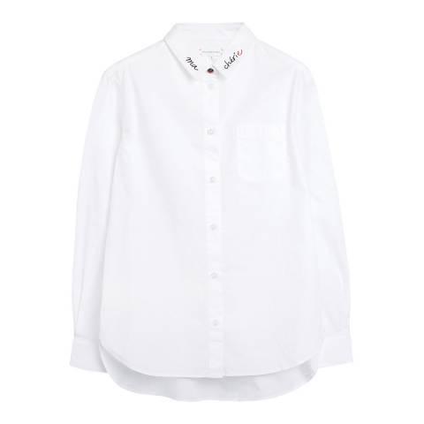 Chinti and Parker White Chinti Boyfriend Cotton Shirt