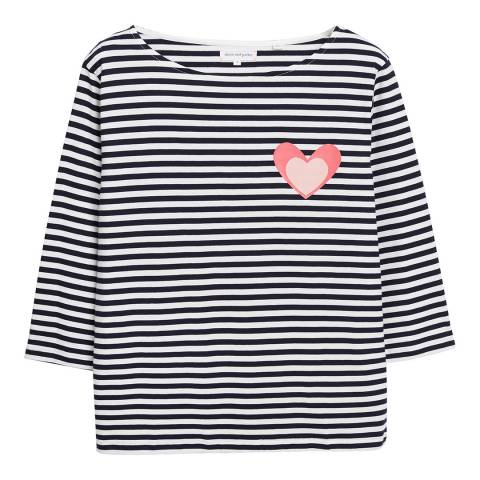 Chinti and Parker TJ27 STRIPE HEART TEE