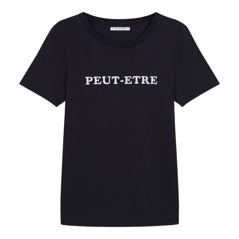 Chinti and Parker Navy/White Peut-Etre T-Shirt