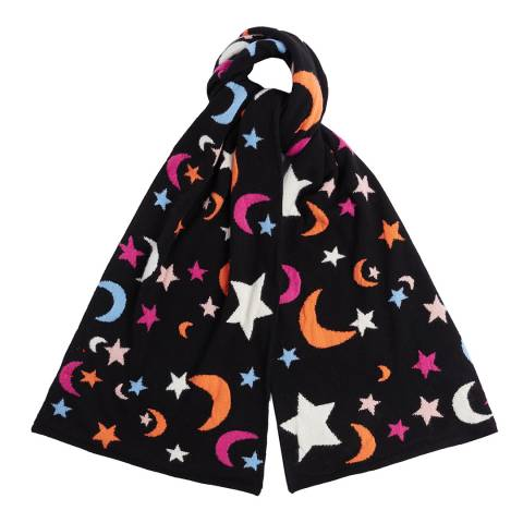 Chinti and Parker AJ01 MIDNIGHT SKY INTARSIA SCARF