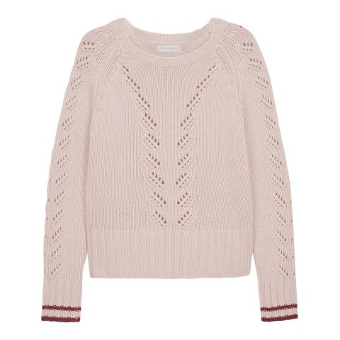 Chinti and Parker Powder/Velvet Cashmere Lace Knit Jumper