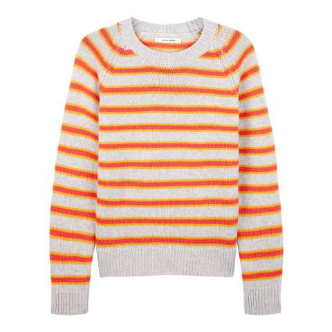 Chinti and Parker Multi Cashmere New Stripe Sweater