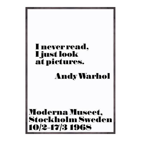 Andy Warhol I never read 100 x 70cm