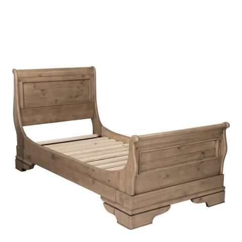 louis philippe rec bedroom 3 39 bateau lit driftwood inc slats brandalley. Black Bedroom Furniture Sets. Home Design Ideas