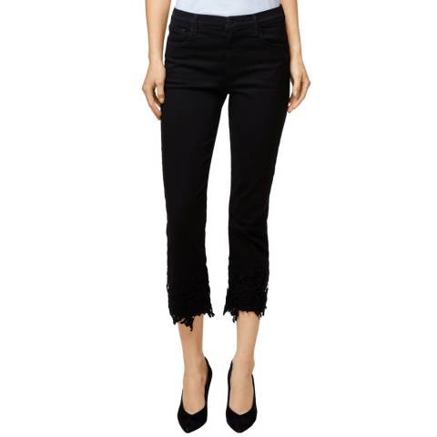 J Brand Black Lace Ruby Stretch Jeans