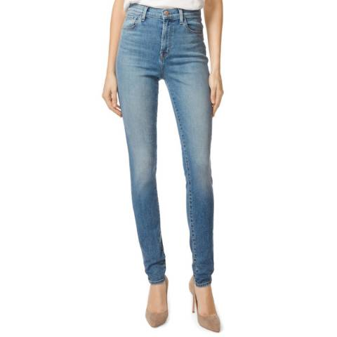 J Brand Mid Blue Carolina Super Skinny Stretch Jeans