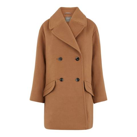 Oasis Brown Jasmine Oversized Relaxed Coat