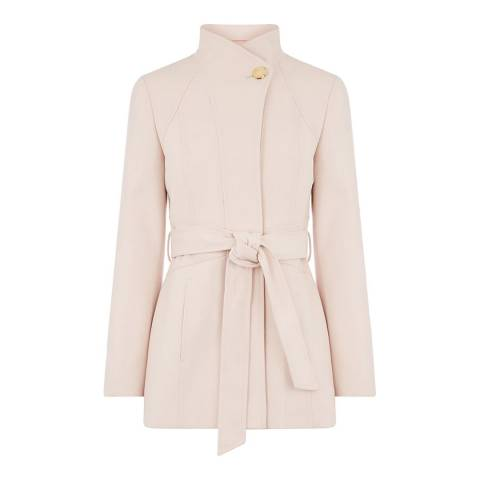 Oasis Beige Hazel Panel Fitted Coat
