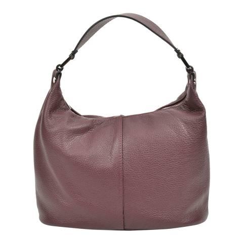 Carla Ferreri Wine Leather Shoulder Bag