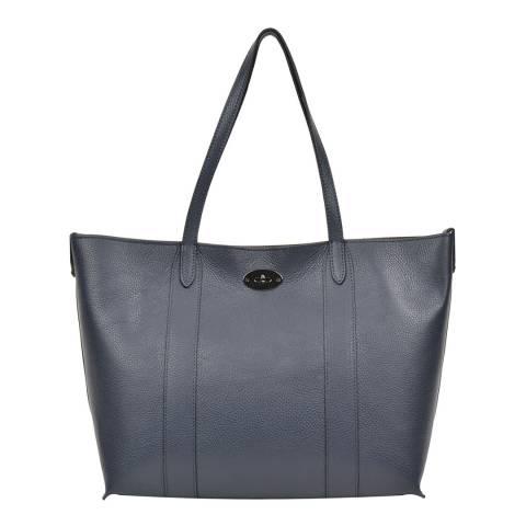 Carla Ferreri Blue Leather Shoulder Bag