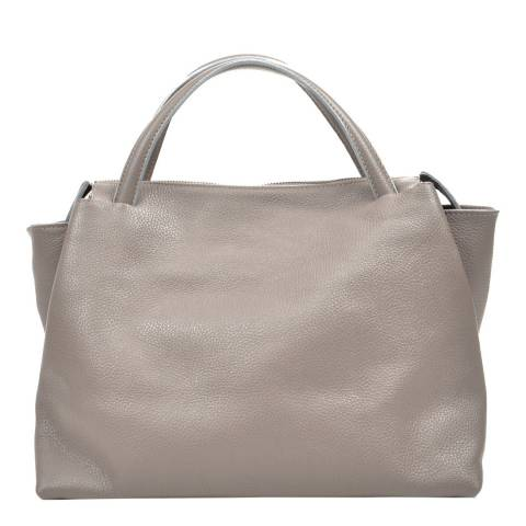 Carla Ferreri Grey Leather Tote Bag