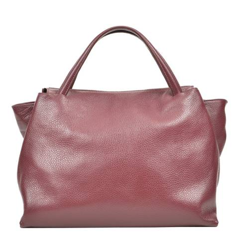 Carla Ferreri Wine Leather Tote Bag