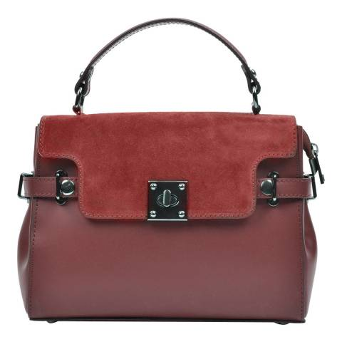 Carla Ferreri Wine Leather Top Handle Bag