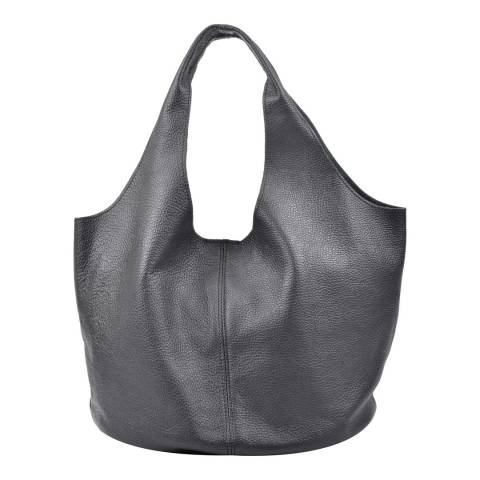 Carla Ferreri Black Leather Hobo Bag