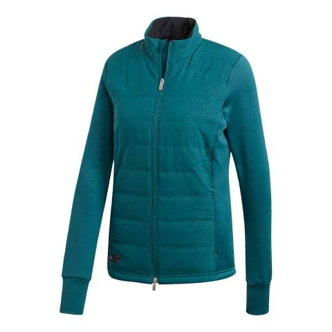 Adidas Golf Mystery Green Full Zip Quilted Jacket