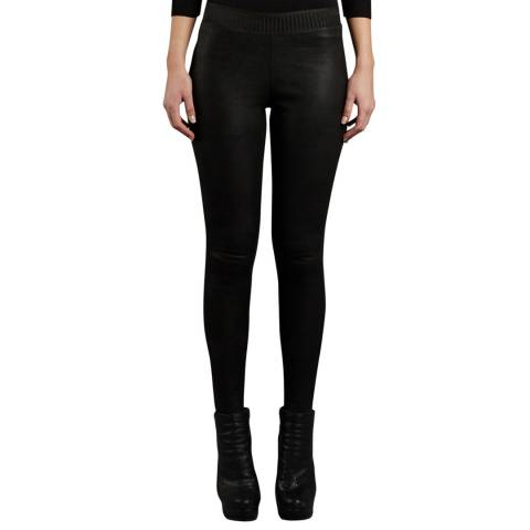 Muubaa Black Cowley Stretch Leather Leggings