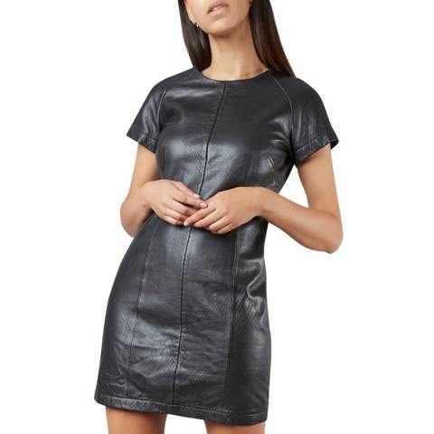 Muubaa Black Meghna Leather Dress