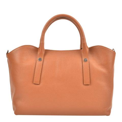 Renata Corsi Cognac Leather Top Handle Bag