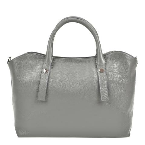 Renata Corsi Grey Leather Top Handle Bag