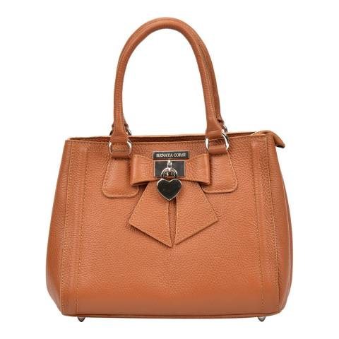Renata Corsi Cognac Leather Tote Bag
