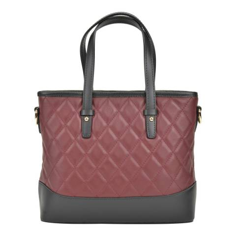 Renata Corsi Wine Top Handle Leather Bag
