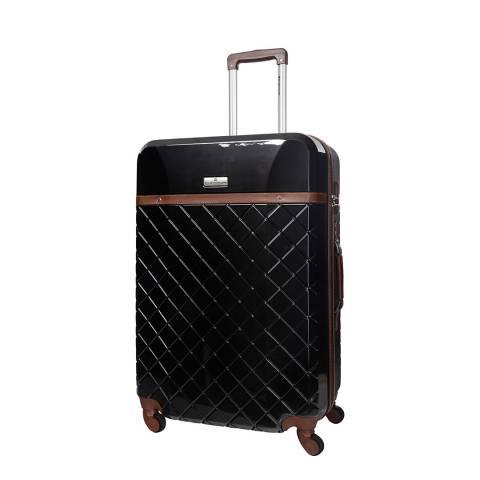 Platinium Black 4 Wheels Trendy Suitcase