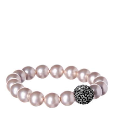 Alexa by Liv Oliver Champagne Pearl and Crystal Bracelet